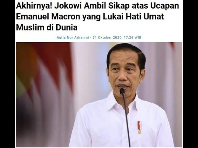 Presiden Jokowi Mengecam Pernyataan Presiden Prancis Emanuel Macron