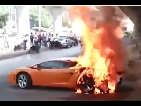 Supercars Set On Fire And Crashes And More Fails Compilation