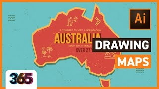 Video Drawing Maps in Illustrator CC | tips & time-lapse  #26/365 Days of Creativity download MP3, 3GP, MP4, WEBM, AVI, FLV Juli 2018
