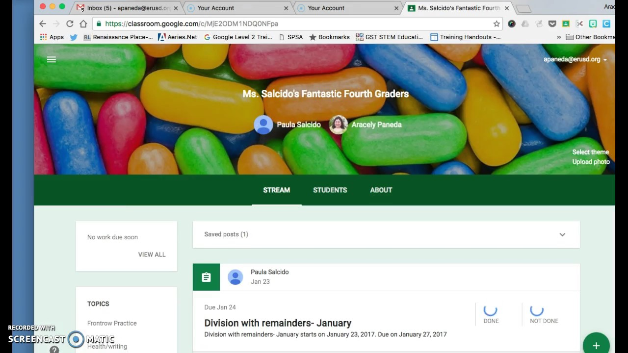 adding a slide presentation to google classroom youtube
