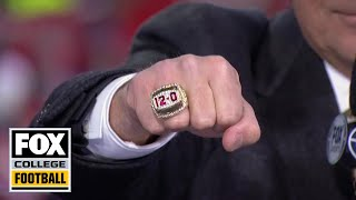 Urban Meyer receives huge welcome, shows off championship ring at Ohio State | CFB ON FOX