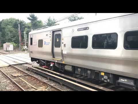 LIRR M7 leaving New Hyde Park. This demonstrates the M7 acceleration capability.