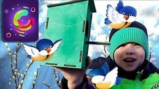 Вешаем синичник #1. Познаваша детские клипы без перерыва