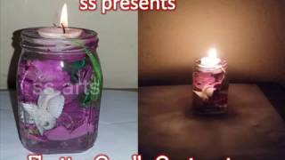 How to Make a Floating Candle Centerpiece With a Flower Inside/room decor