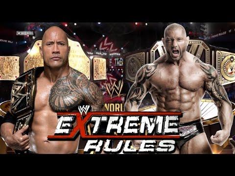 "The Rock vs Batista ""Wwe World Heavyweight Champions"" Extreme Rules! thumbnail"