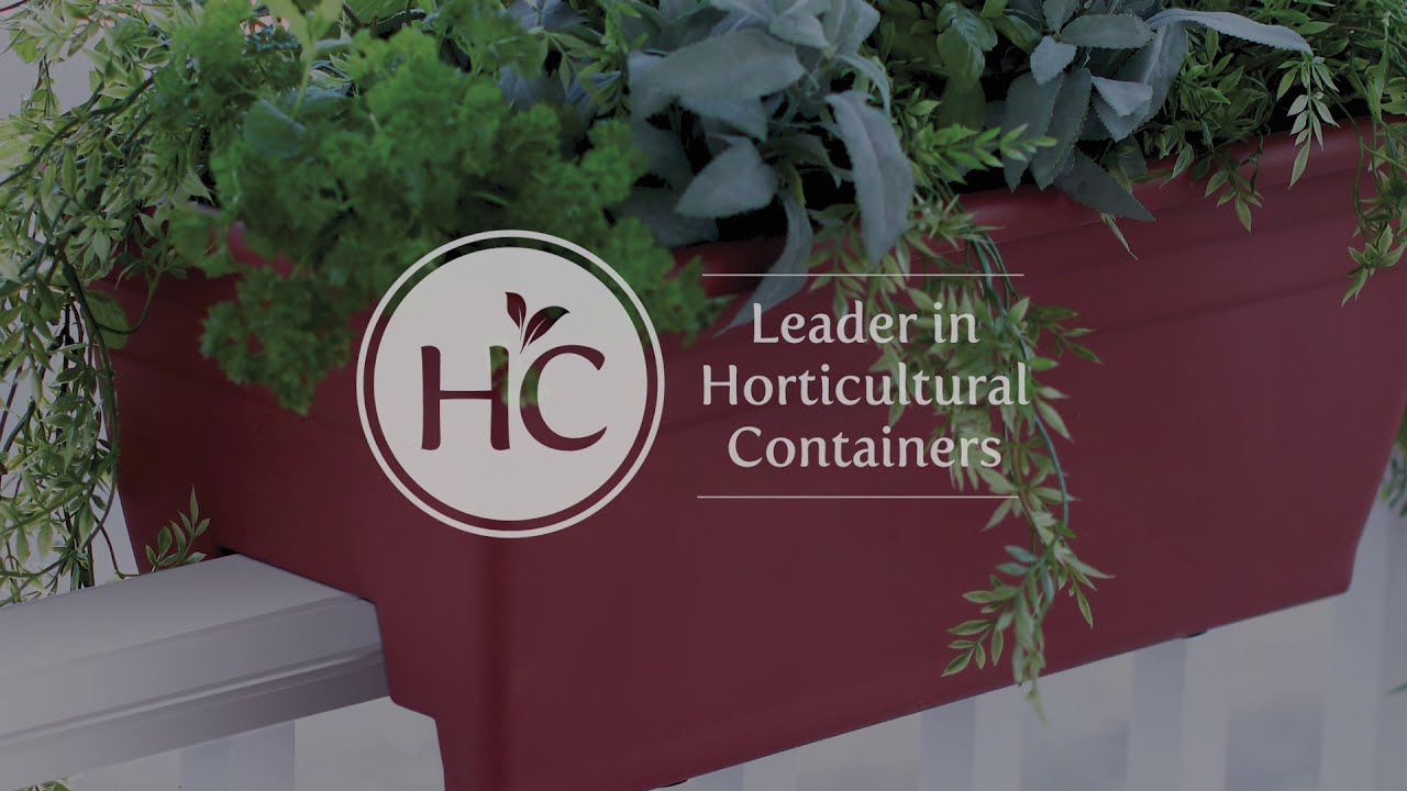 The HC Companies SPX24DB0A34 Rail Planter 24 Sandstone