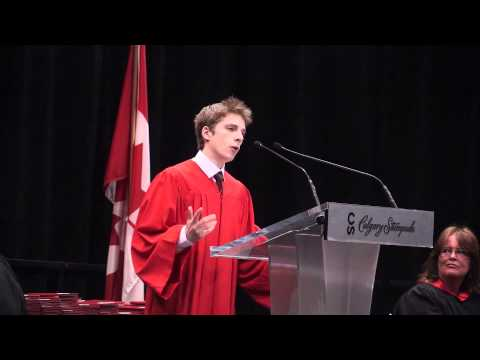 Valedictory Address - Lester B Pearson 2013