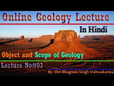 Object and Scope of Geology