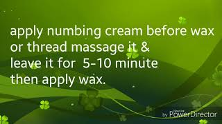 Stop pain in Waxing and Threading-How to make Numbing Cream-Care & Cure