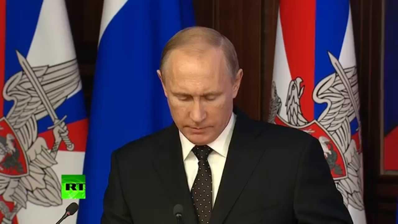 Владимир Путин выступил на заседании коллегии Минобороны