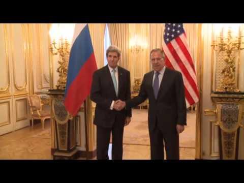Raw: Kerry, Lavrov Meet for Ukraine Talks