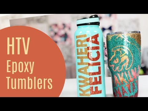 HTV Tumbler with Epoxy