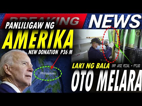 GRABE ANG LAKI NG BALA NG WARSHIP NG PINAS   PANLILIGAW NG AMERICA NEW DONATION WORTH P35.9 MILLION