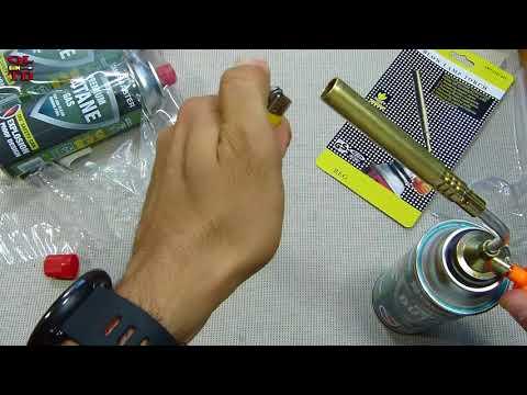 cheap Portable Butane Gas Torch/ fire blow Gun review