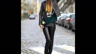 20 Street Styles With Leather Pants
