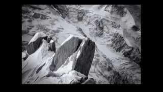 Black   White  Mont Blanc massif  French Alps