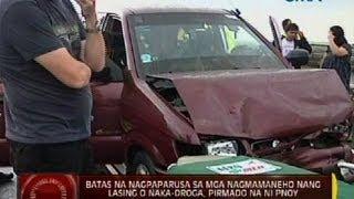 Batas na nagpaparusa sa mga nagmamaneho nang lasing o naka-droga, pirmado na ni PNoy