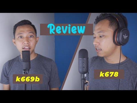 Review Mic Fifine K669b \u0026 K678 ~ Mic Murah Untuk Podcast Dan Cover Lagu  ASMR Juga Bisa