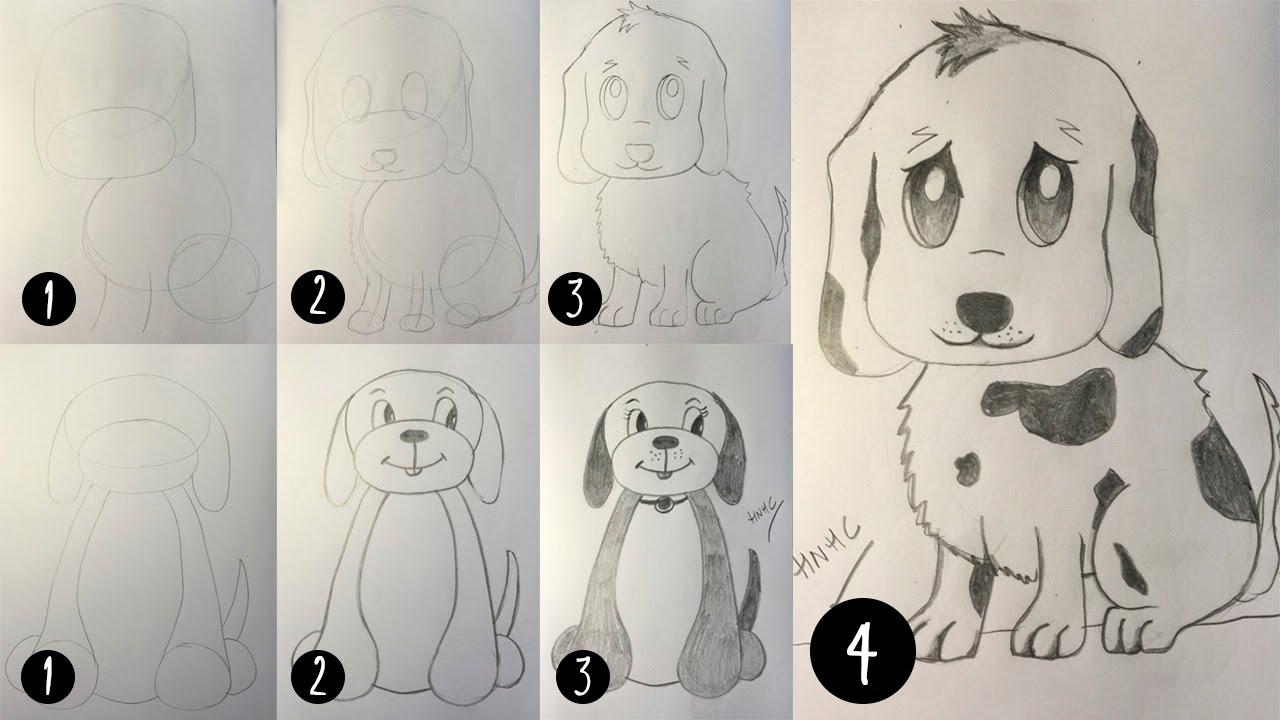 Como dibujar un cachorro de perro  Dibujo paso a paso  YouTube
