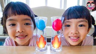 หนูยิ้มหนูแย้ม   ทดลองไฟดูดไข่ Kids Activities