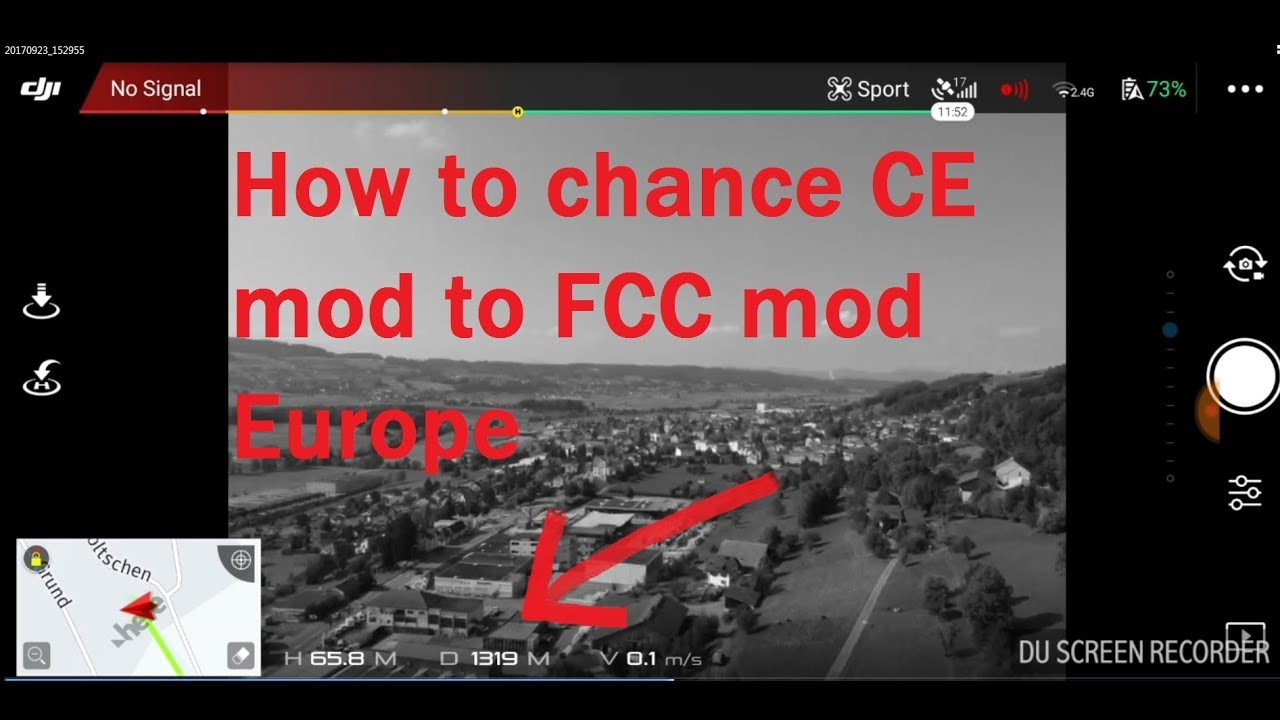 DJI SPARK how to change to FCC mod