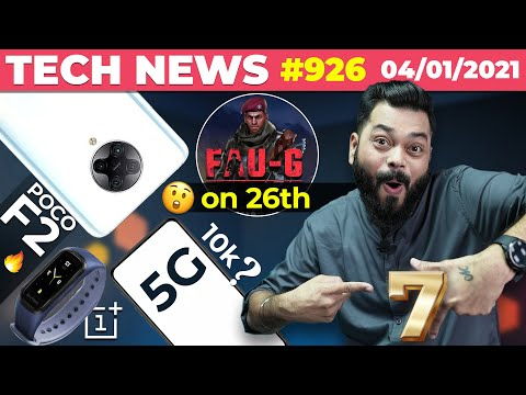 FAUG Launch on 26th, POCO F2 Specs, 5G Phone Under 10k, OnePlus Band Specs, Mi 10i Price-TTH#926