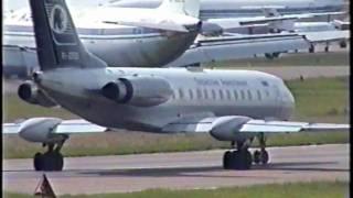 Ту-134 руление и разбег Внуково 2000 Tu-134 taxi Vnukovo summer 2000(, 2009-12-09T00:58:09.000Z)