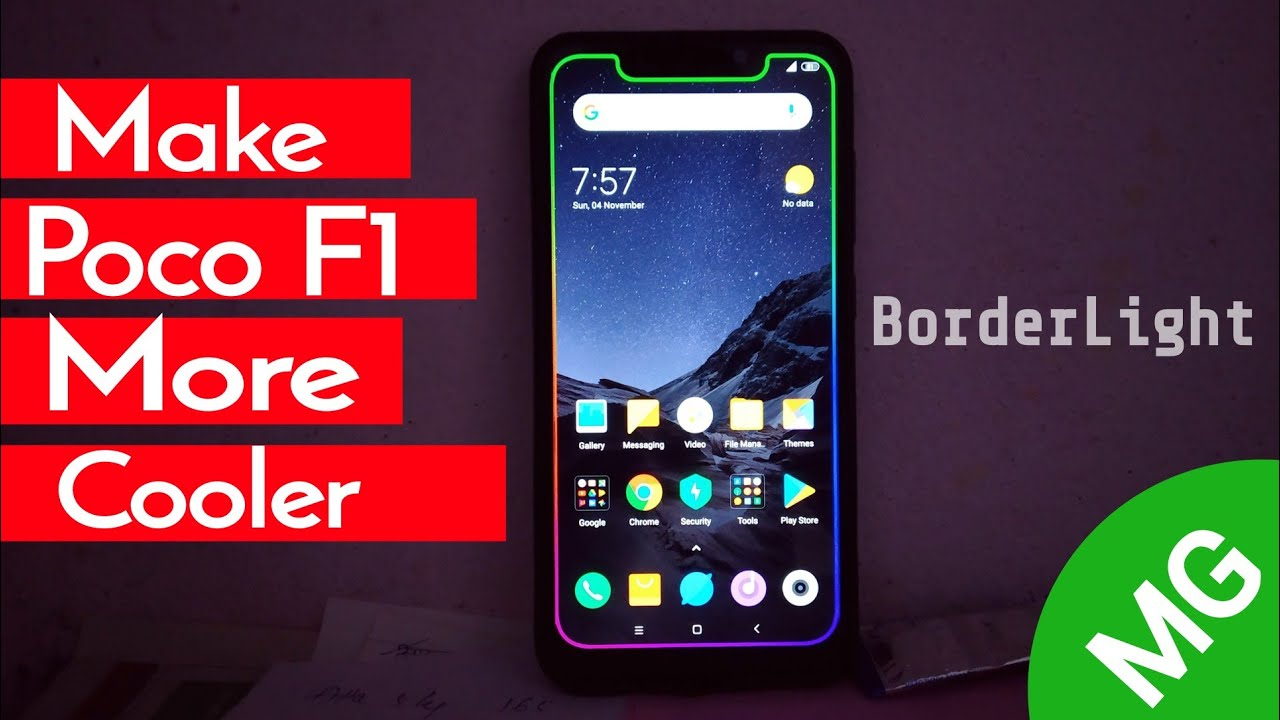 Enable BorderLight On Poco F1