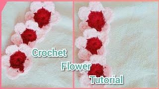 how to make handmade crochet flower tutorial/easy to make at home
