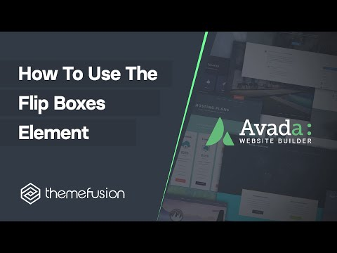 How To Use The Flip Boxes Element Video