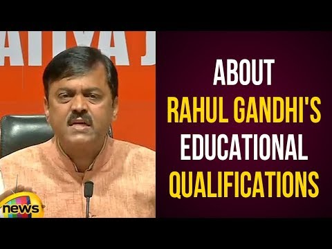 GVL Narasimha Rao About Rahul Gandhi's Educational Qualifications | National Politics | Mango News