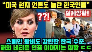 스페인 왕비도 깜짝 놀란 한국 수준, 해외 네티즌들 인…