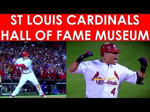 St Louis Cardinals Hall Of Fame & Museum At Ballpark Village Busch Stadium Lou Brock Ozzie Smith HOF
