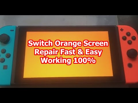 Nintendo Switch Orange Screen Repair 100% Working Fast