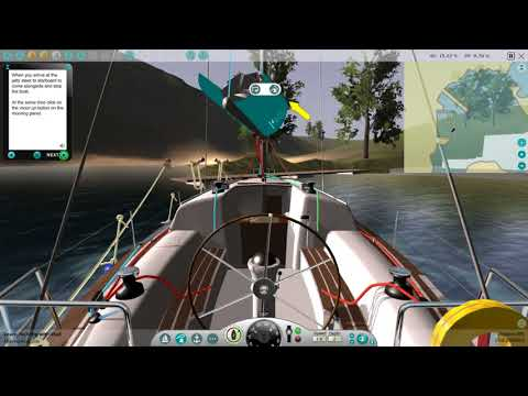 How To Moor Alongside With ESail Yacht Sailing Simulator