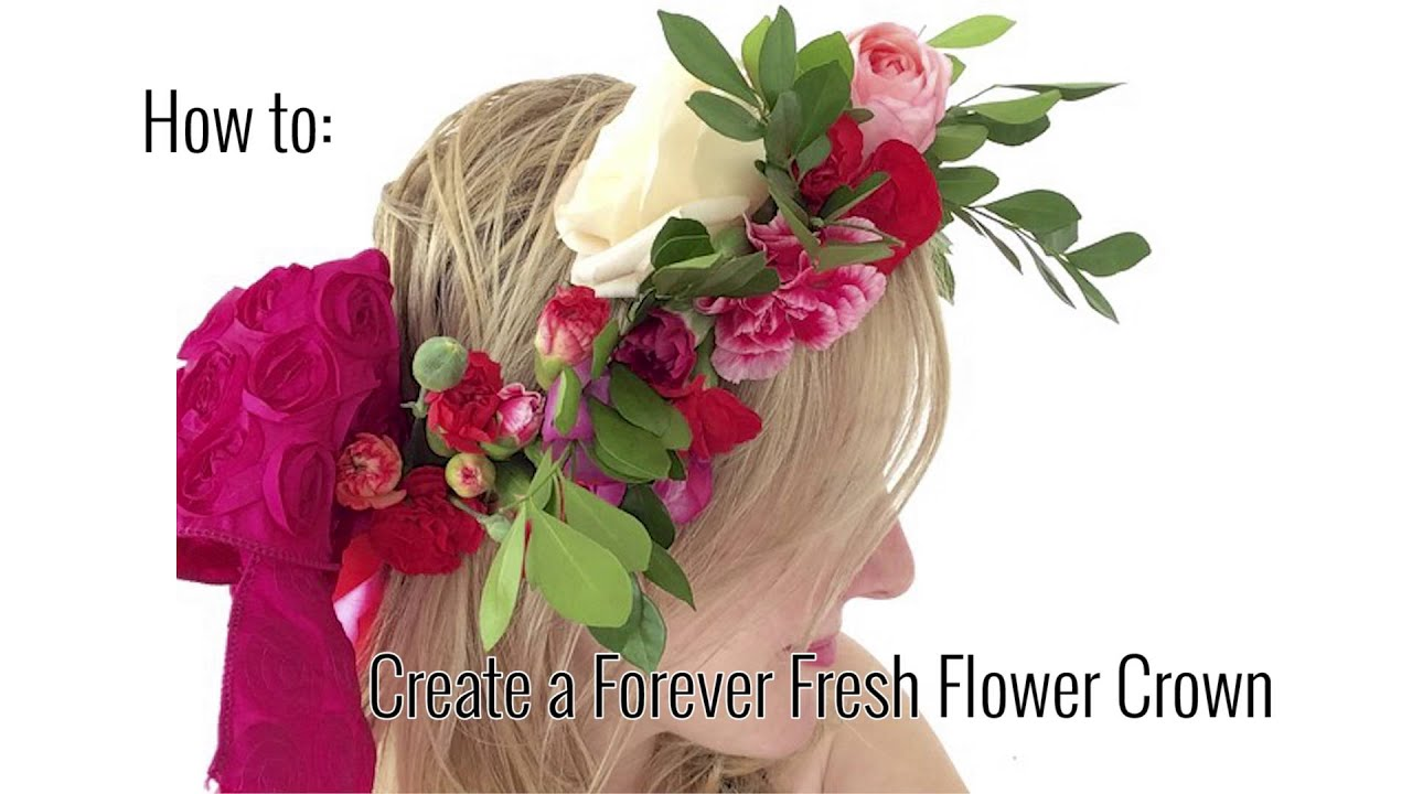 How to make a forever fresh flower crown youtube how to make a forever fresh flower crown dhlflorist Choice Image