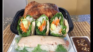How To Make Rotisserie Chicken Vegetable Spring Rolls-Asian Food Rcipes