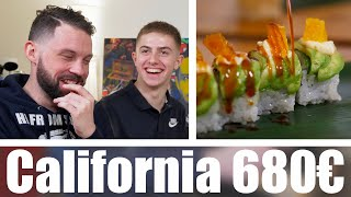 California Rolls 20€ VS California Rolls 680€ avec Michou.