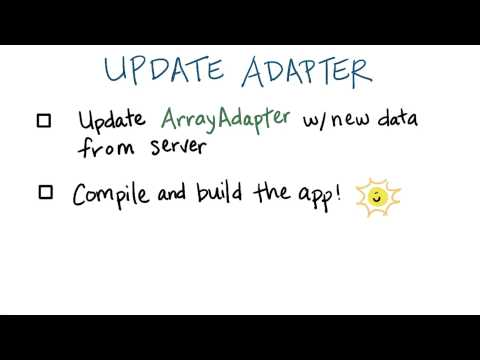 Update the Adapter - Developing Android Apps - YouTube