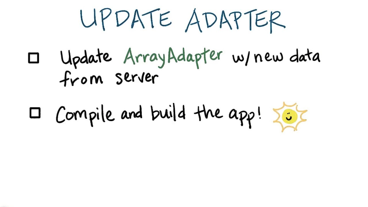 Update the Adapter - Developing Android Apps
