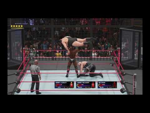 "WWE 2K19 : Elimination chamber ""Big Man Challenge"""