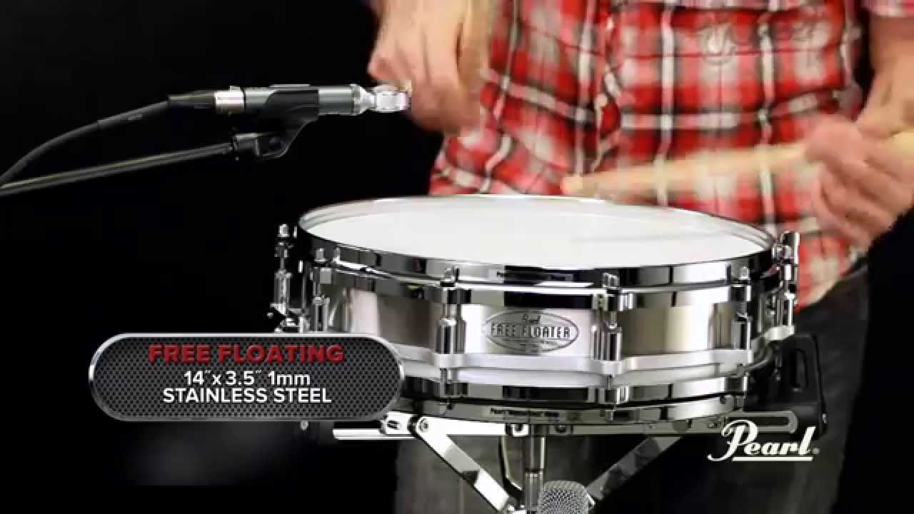 pearl 14x3 5 stainless steel free floating snare drum youtube. Black Bedroom Furniture Sets. Home Design Ideas