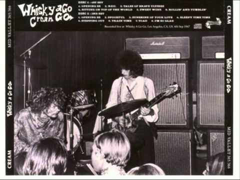 CREAM : WHISKY A GOGO 1967 : TALES OF BRAVE ULYSSES .