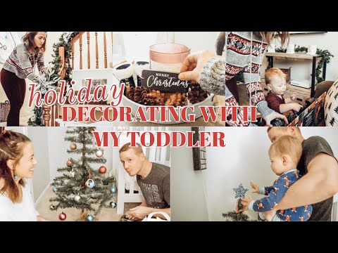 DECORATE WITH ME & MY TODDLER FOR CHRISTMAS + Ditl | Ashley Hunt