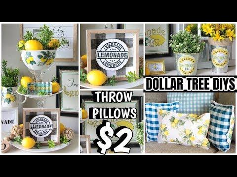 DOLLAR TREE LEMON DECOR DIYS