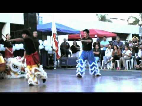 Chinese Lion Dancers At Oxnard MultiCultural fest film
