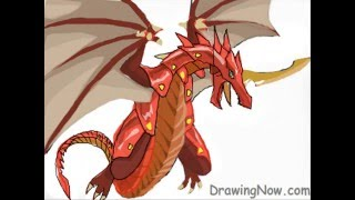 How to Draw Drago From Bakugan