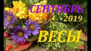 ВЕСЫ. СЕНТЯБРЬ 2019г. ПОДРОБНЫЙ ПРОГНОЗ на МЕСЯЦ. +БОНУС!