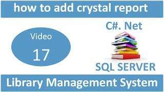 how to add crystal report in library management system