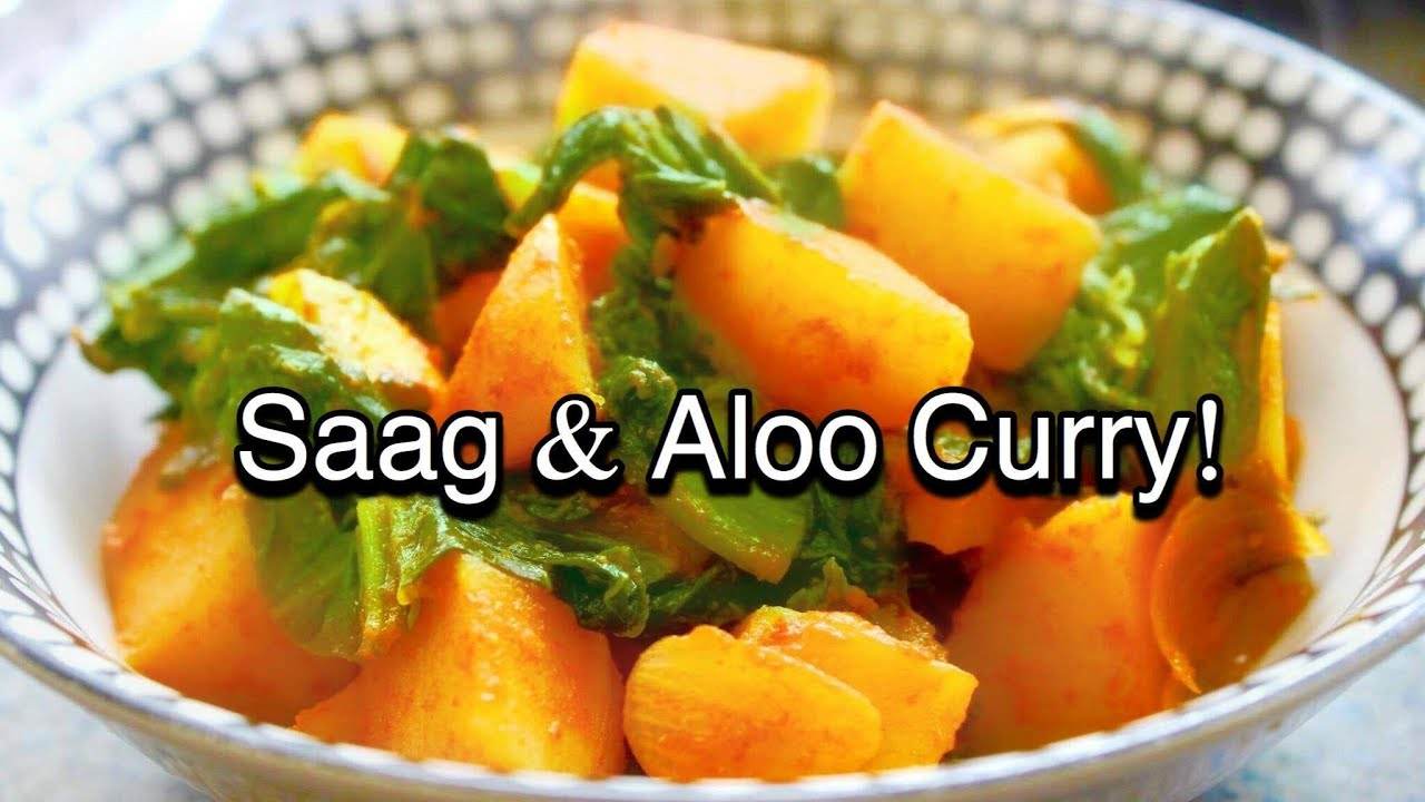 Saag ra aloo ko tarkari veg potato curry nepali food recipe saag ra aloo ko tarkari veg potato curry nepali food recipe youtube forumfinder Image collections
